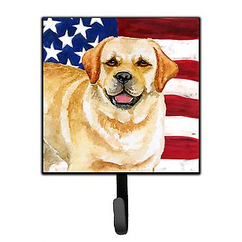 Carolines Treasures  BB9664SH4 Golden Retriever Patriotic Leash or Key Holder