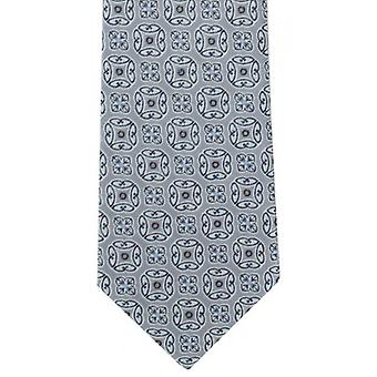 Michelsons of London Bold Medallion Polyester Tie - Silver