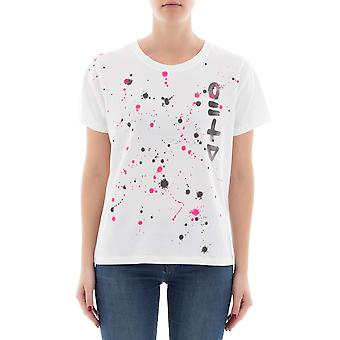 P.A.R.O.S.H. women's D110591XCOUL825 white cotton T-Shirt