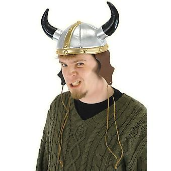 Viking Warrior Vinyl Deluxe Adult Costume Helmet Hat with Horn