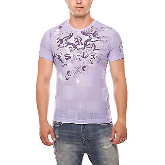 RUSTY NEAL T-Shirt mens short sleeve shape purple