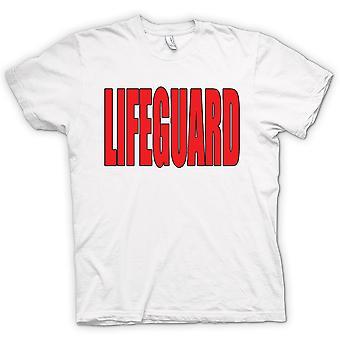 Mens t-skjorte - Lifeguard - Funny humor