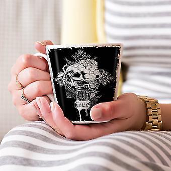 Rose Dead Flower Skull NEW White Tea Coffee Ceramic Latte Mug 17 oz | Wellcoda