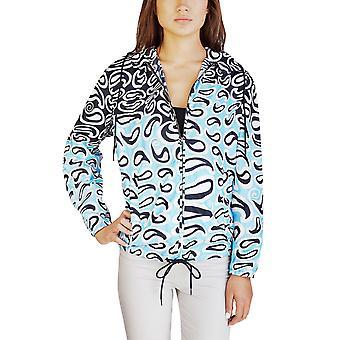 Miu Miu kvinders Nylon Paisley Print jakke blå