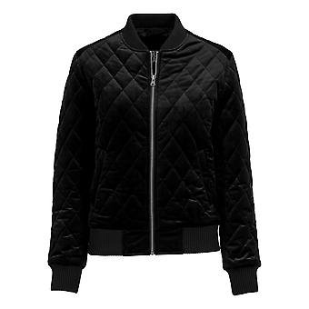 Urban classics ladies diamond quilt velvet jacket