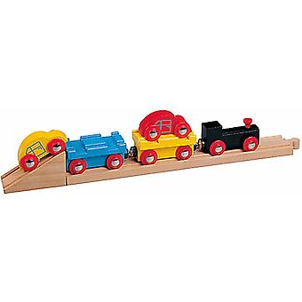 Car Transporter Train for Wooden Railway Train Set 50825 - Brio Compatible
