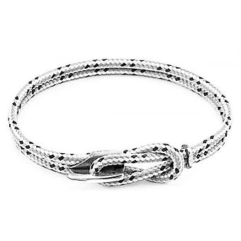 Anchor and Crew Padstow Silver and Rope Bracelet - Grey Dash