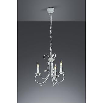 Trio Beleuchtung stilvoll authentischen antiken grau Metall Kronleuchter