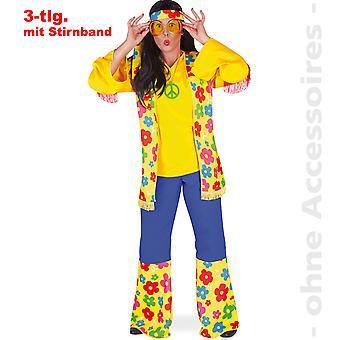 Hippie Kostüm Flower Power 60er Jahre Hippiekostüm Damen Blumenkind Damenkostüm