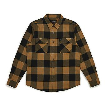 Brixton Bowery Flannel Long Sleeve Shirt Black Bronze