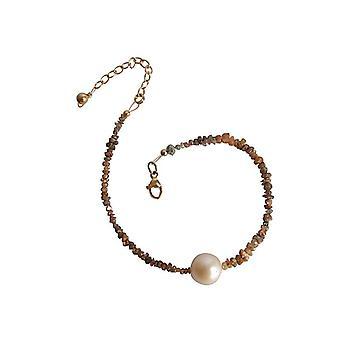 Diamond bracelet gold plated Pearl champagne diamond and pearl bracelet