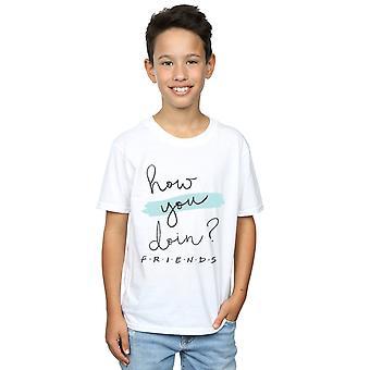 Venner drenge hvordan du Doin? Håndskrift T-Shirt