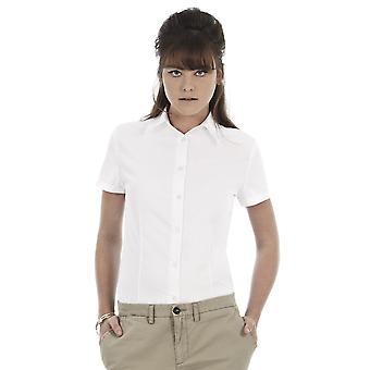 B & C senhoras Oxford manga curta corporativa camisa-SWO04