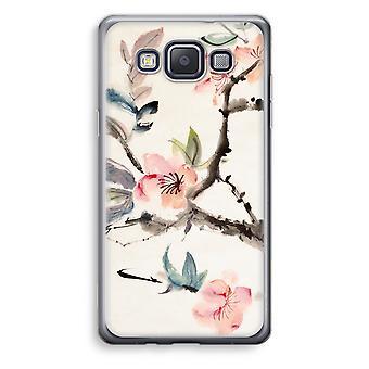 Caja transparente Samsung Galaxy A3 (2015) (Soft) - flores de Japenese