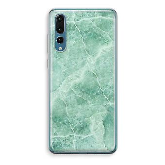 Huawei P20 Pro Transparent Case (Soft) - Green marble