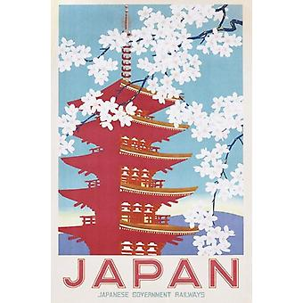 Japan poster Japanese Government railways