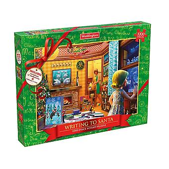 Waddingtons Christmas 1000 Piece Jigsaw Puzzle Writing To Santa