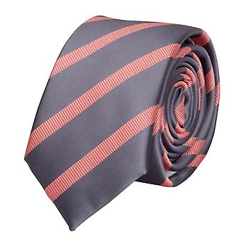 Tie tie tie tie 6cm silver of grey salmon Fabio Farini striped
