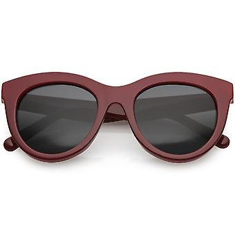 انعقدت القرن كبيرة الحجم للمرأة القط العين نظارات جولة عدسة 50 مم