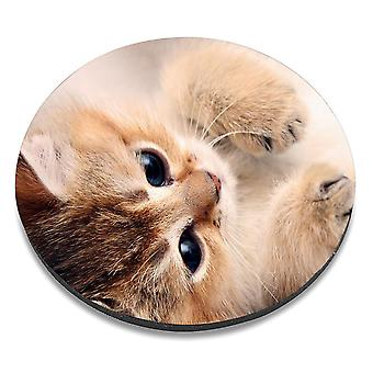 i-Tronixs - Cat Printed Design Non-Slip Round Mouse Mat for Office / Home / Gaming - 5
