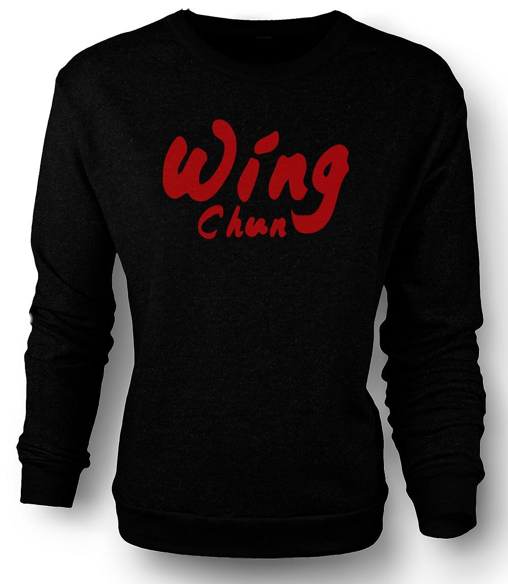 Mens Sweatshirt Wing Chun - Art Martial - Slogan