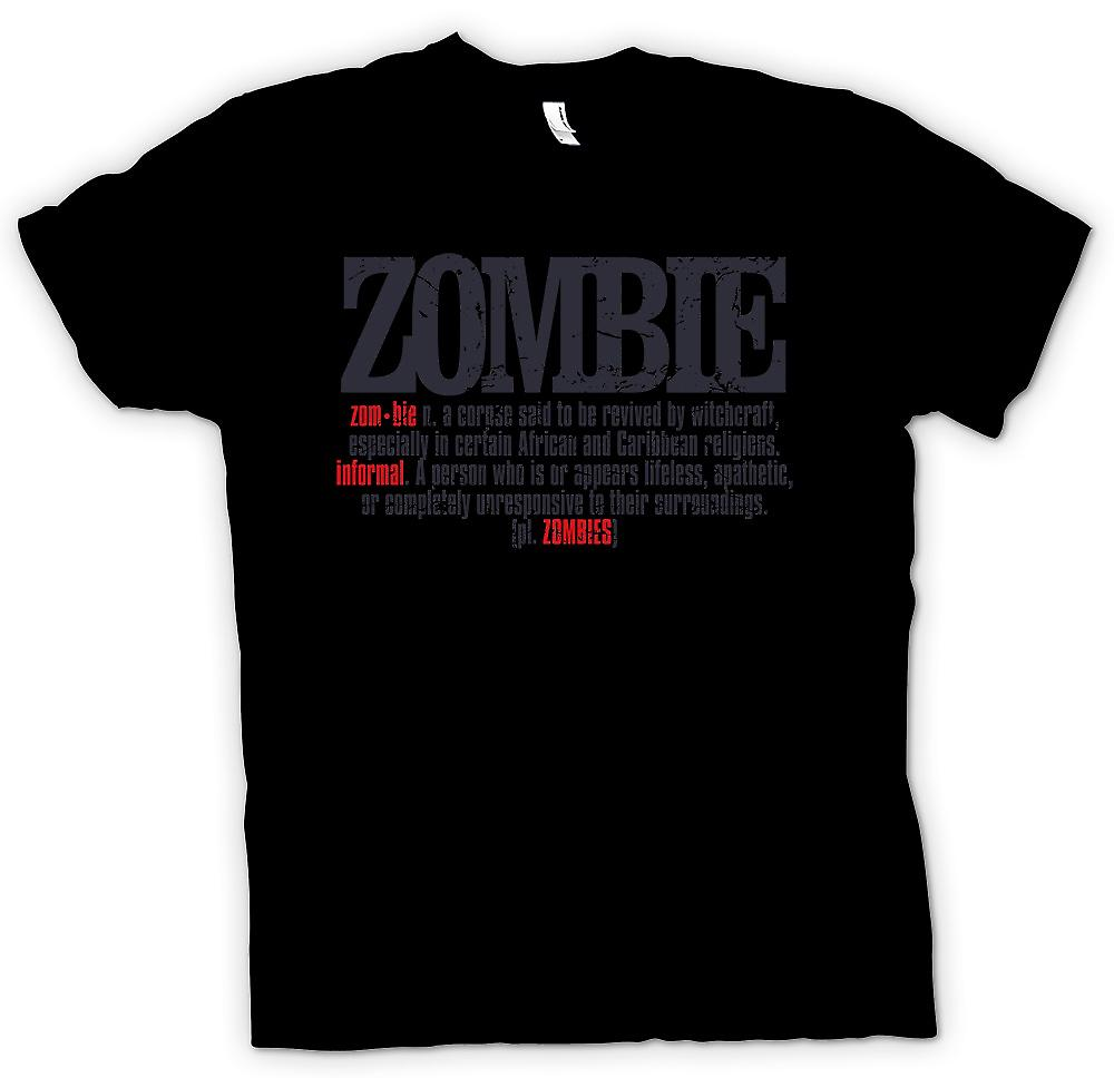 Herr T-shirt - Zombie Defination - Cool Design