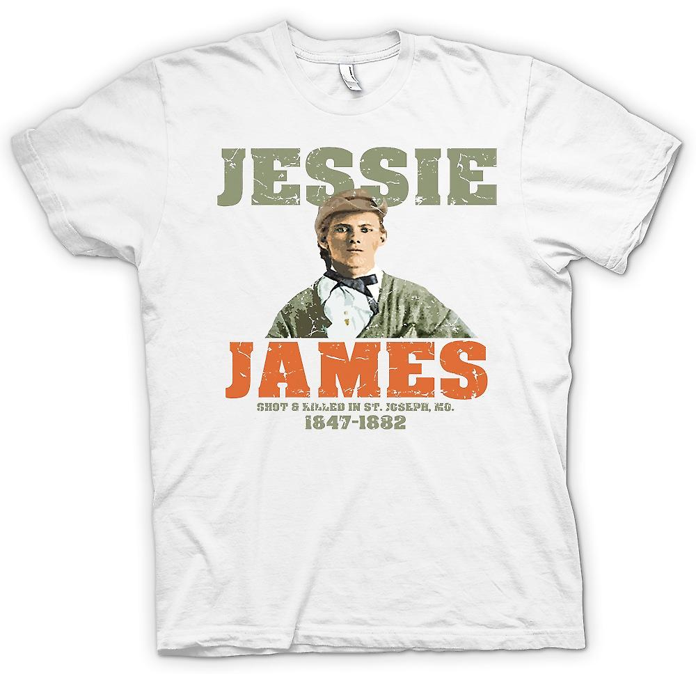 Heren T-shirt - Jesse James - ontsproot en doodde 1882