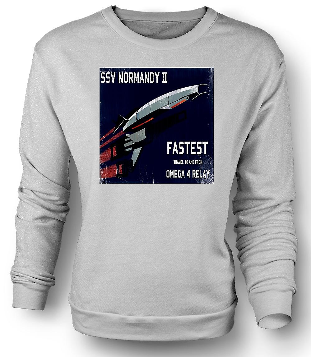 Mens Sweatshirt Mass Effect Ssv Normandy II