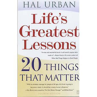 أعظم الدروس الحياة-20 الأمور في هذا الشأن بهال الحضرية--9780743