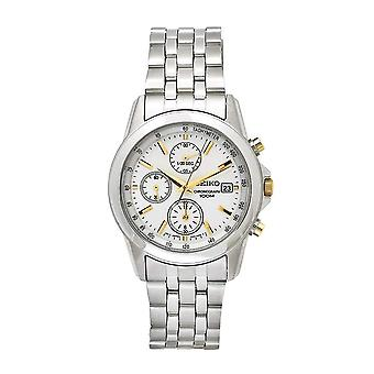 Seiko Chronograph Two Tone Bracelet Strap Gents Watch SNDC11P1