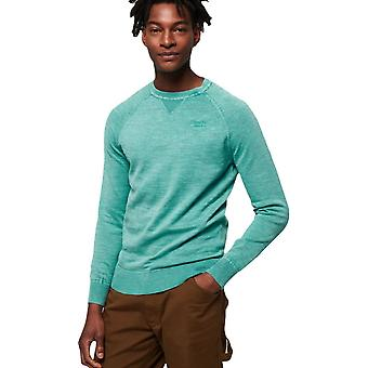 Superdry Garment Dye L.A Knit Jumper Montrose Green 61
