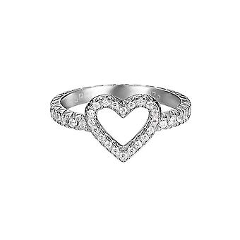 ESPRIT women's ring silver zirconia brilliance heart ESRG92050A1