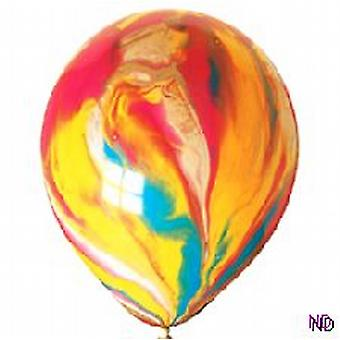 "Balloons 12"" Marble Psychedelic Assorted Colours"
