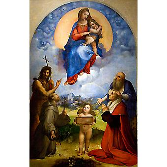 Madonna di Foligno, Raphael, 40x60cm with tray
