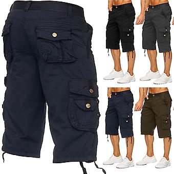Men's Cargo Shorts - (Relaxed Fit) Dark Bermuda Leisure Summer Trousers