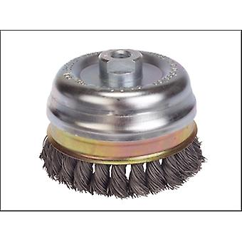 Lessmann Knot Cup Brush 80mm x M14 x 0.50 Steel Wire*
