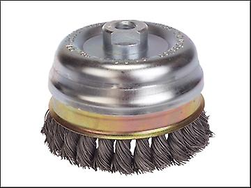 Lessmann Knot Cup Brush 100mm M14 x 0.50 Steel Wire*