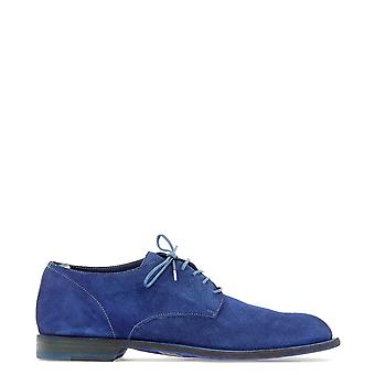 Officine Creative Blue Suede Lace-up Shoes