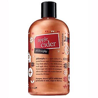 Philosophy Apple Cider Shampoo, Shower Gel, & Bubble Bath 16oz / 480ml