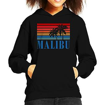 Malibu Retro 70s Sunset Kid's Hooded Sweatshirt