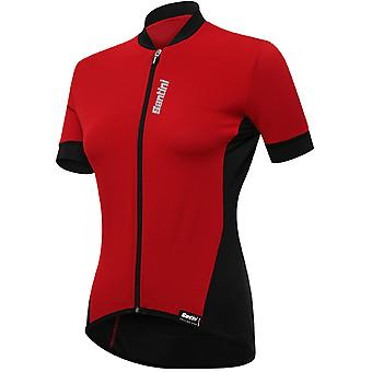 Santini Red 2019 Brio Womens Short Sleeved Cycling Jersey