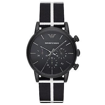 Emporio Armani Ar1860 Menâs Luigi Black Chronograph Watch