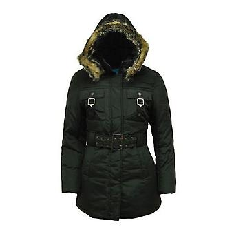 Parka Jacket With Belt And Hood