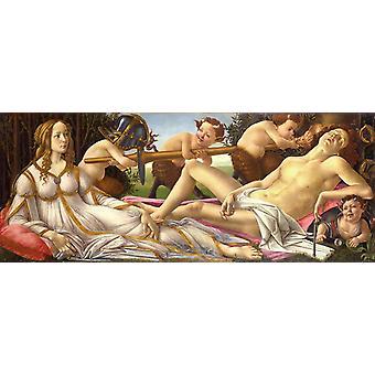 Venus and Mars, Sandro Botticelli, 80x32cm