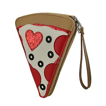 Pizza Party Slice of the Pie Pepperoni Pizza Purse w/Removable Wrist Strap