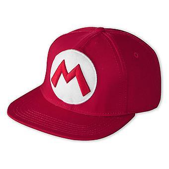 Nintendo Snap Back Cap Super Mario Logo Baseballmütze, rot, 100% Baumwolle, Größe verstellbar.