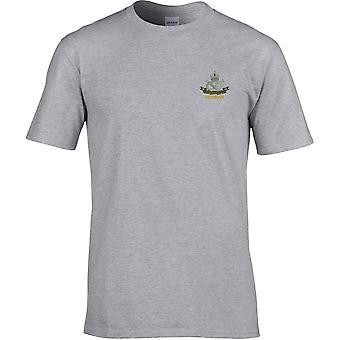 South Staffordshire Regiment Veteran - lizenzierte britische Armee bestickt Premium T-Shirt