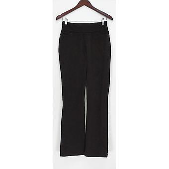 Denim & Co. Women's Jeans Comfy Knit Smooth Waist Boot Cut Black A309729