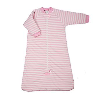 uh-oh! Baby Sleeping Bag with Long Sleeves 3.0 tog Warmth Rating Pink Stripe