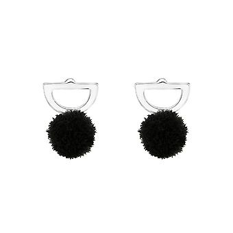 Semi Circle - 925 Sterling Silver Colourful Ear Studs - W37050X